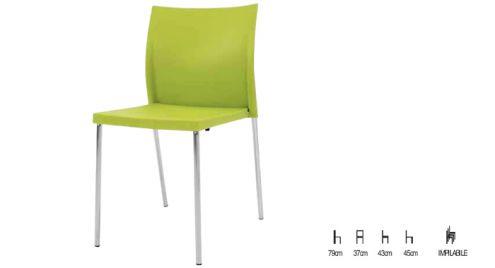 Sedia in polipropilene verde - Nuovo