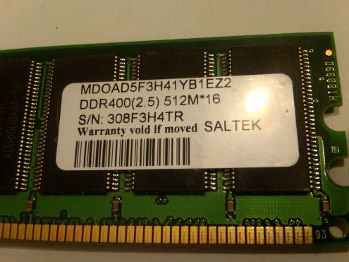 Memoria 512 Mbyte DDR 400 - Foto 2