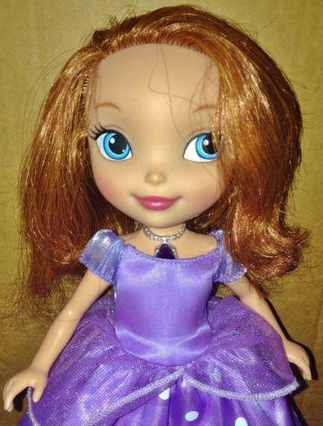 Disney bambola Principessa Sofia Parlante Mattel luci e suoni