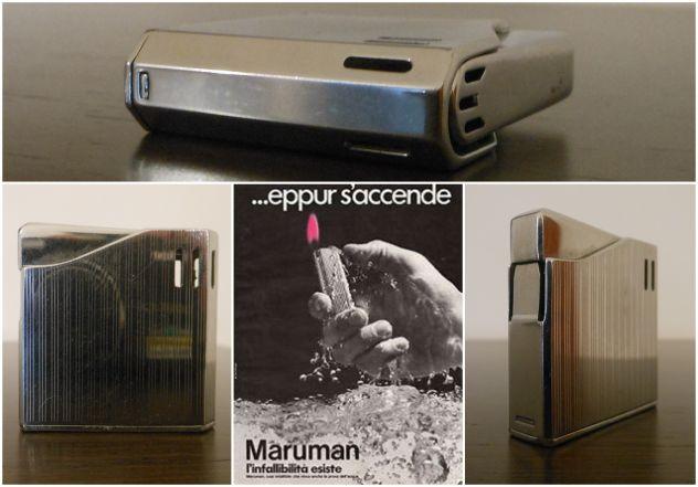 Accendino a gas  MARUMAN HALLEY DL8 Cromo Made in Japan, anni'70.