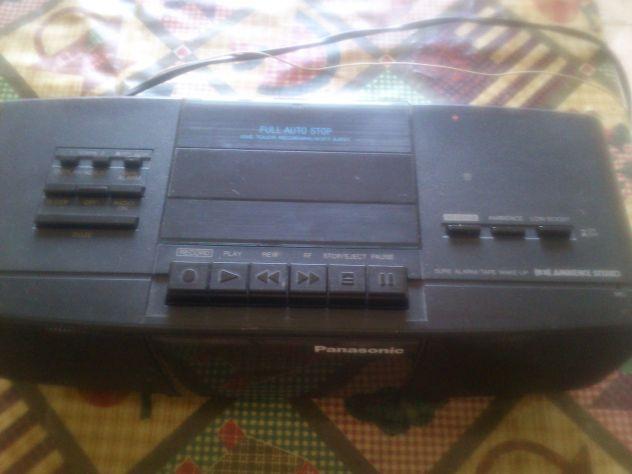 Sveglia stereo radio cassette panasonic vintage