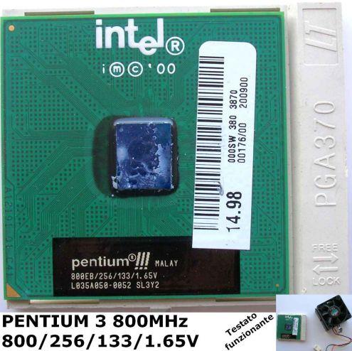 CPU PENTIUM 3 800 256 133 1,65V L035A050-0052 SL3Y2 Socket PGA 370.
