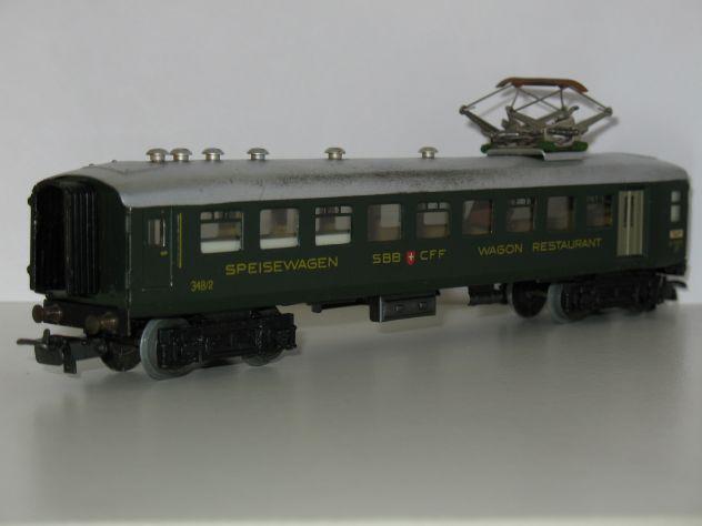 Marklin H0 348 2 (4016) Carrozza Ristorante Ferrovie Svizzere - Foto 4
