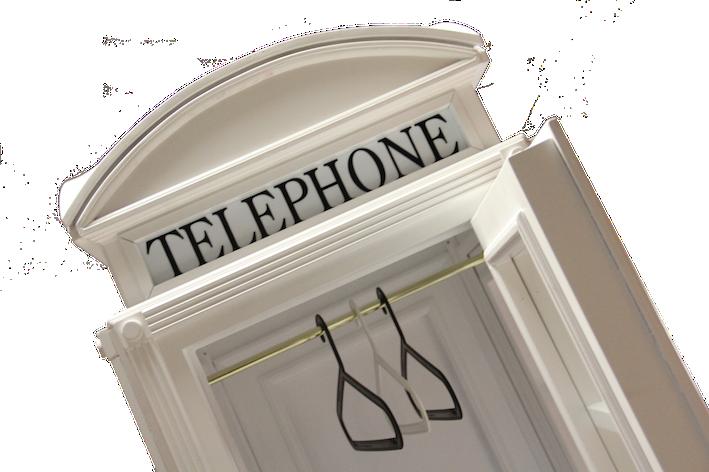 Cabina telefonica inglese armadio in legno su misura for Cabina telefonica inglese arredamento