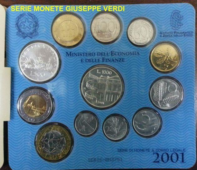 Serie monete giuseppe verdi 2001