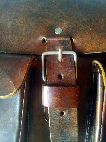 Borsa lavoro/portadocumenti in pelle antichizzata (Unisex) - Foto 4