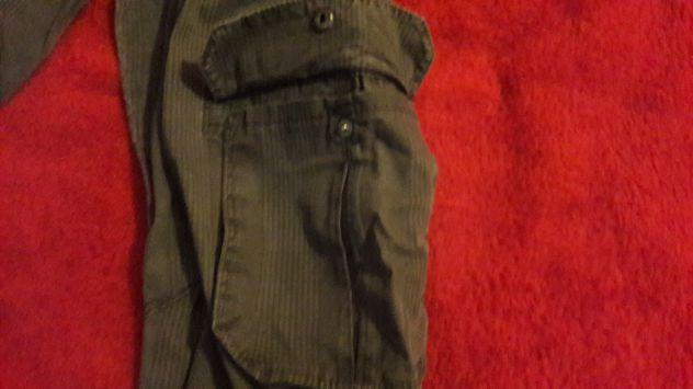Pantaloni stoffa Owk grigi a quadri tasconi Tg 46 - NUOVI - Foto 5
