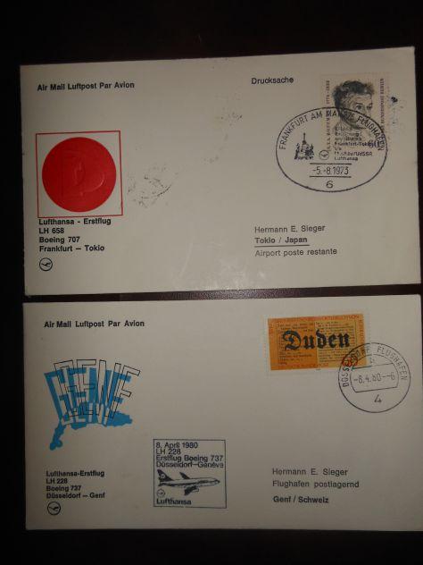 Posta aerea - LUFTHANSA - Lotto n. 1