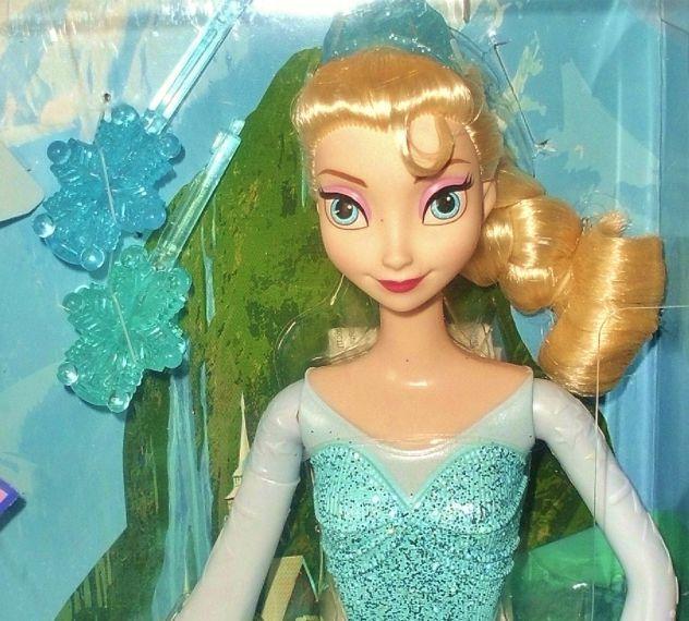 Bambola originale disney elsa frozen il regno di ghiaccio nuova in scatola