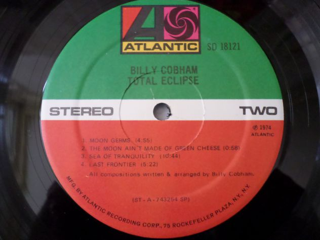 BILLY COBHAM - Total Eclipse - LP / 33 giri 1974 Atlantic - Foto 4