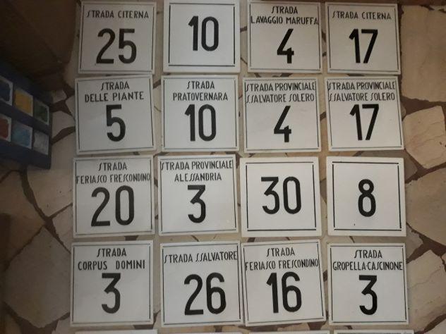 Piastrelle con numeri scritte annunci milano