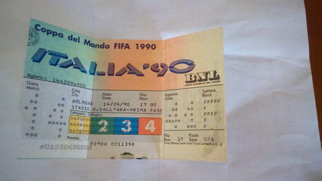 Biglietto Jugoslavia-Colombia Italia '90