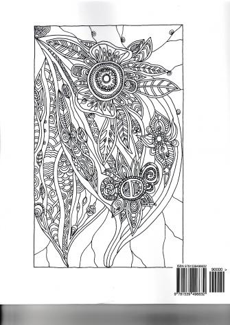 Trees & Flowers Libro da colorare per adulti-antistress-relax - Foto 2