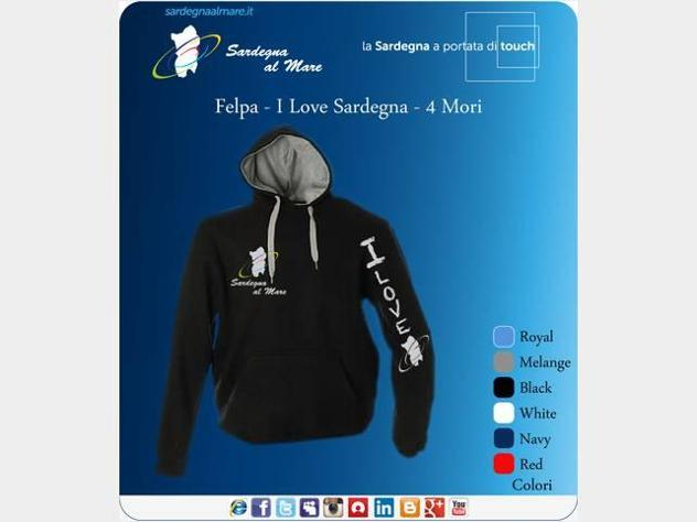 Felpa i love Sardegna - SardegnaAlMare
