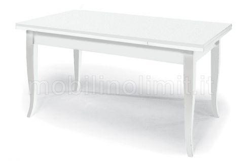 Tavolo Con Allunghe (100x70) - Bianco Opaco - Nuovo