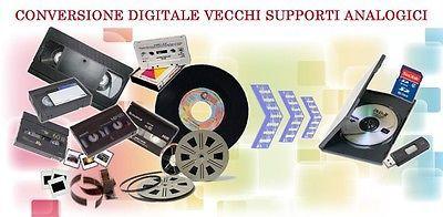 converto in digitale pellicole 8mm,  vhs, video 8,dv, betacam sp e sx
