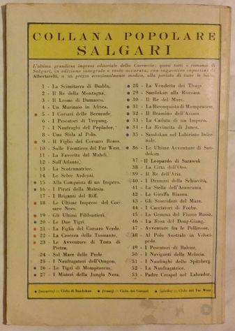 Le ultime imprese del corsaro Nero di Emilio e Omar Salgari Carroccio 1947 ottim - Foto 2
