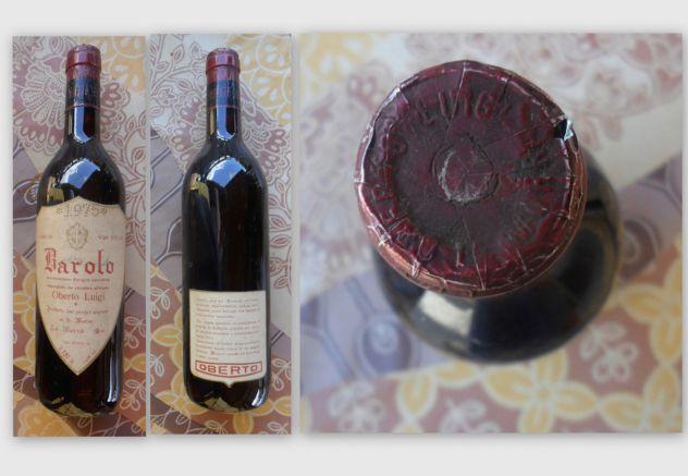 Bottiglia di barolo del 1975 di Oberto Luigi -