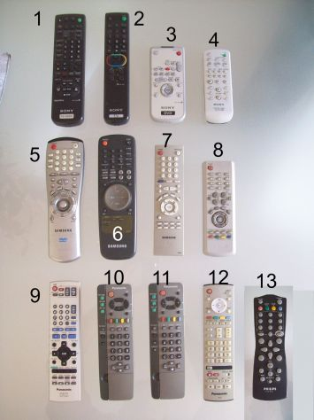 Telecomando TVDVDVHS Samsung Sony Panasonic Philips