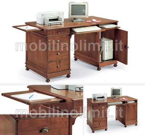Scrivania Porta Computer (grezzo) - Nuovo