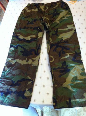 Pantalone cerata unisex fantasia militare misL new