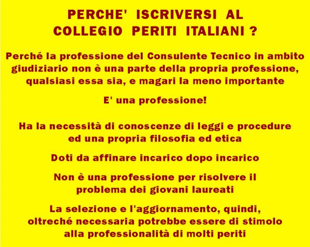 Sei un professionista? Iscriviti a COLLEGIO PERITI ITALIANI sarai perito forense - Foto 2