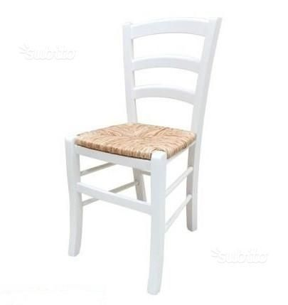 Sedie ristorante cod 3011/P bianche nuove