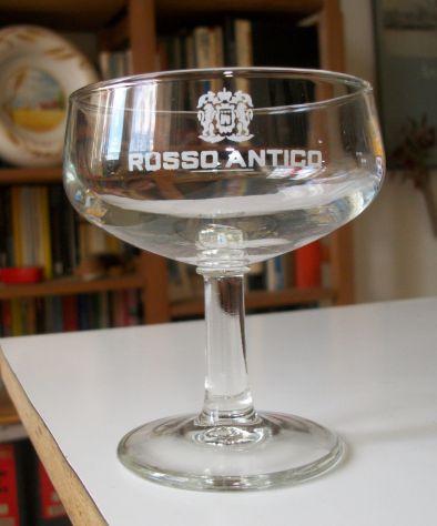 7 bicchieri PUNT e MES ROSSO ANTICO