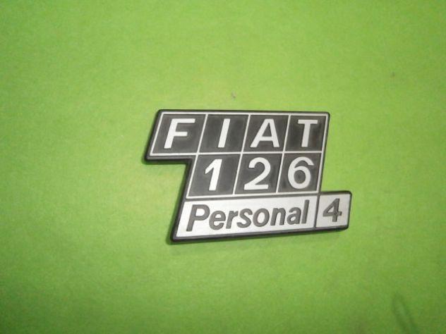 Scritta posteriore Fiat 126 personal 4 NUOVA in metallo - Foto 3