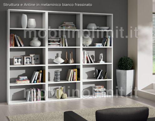 Composizione con 3 Librerie Bianco Frassinato (89) - Nuovo