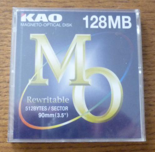 Kao: Magneto-Optikal Disk 128MB Rewritable