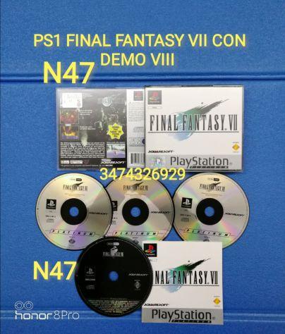 PS1 FINAL FANTASY VII CON DEMO Fantasy 8