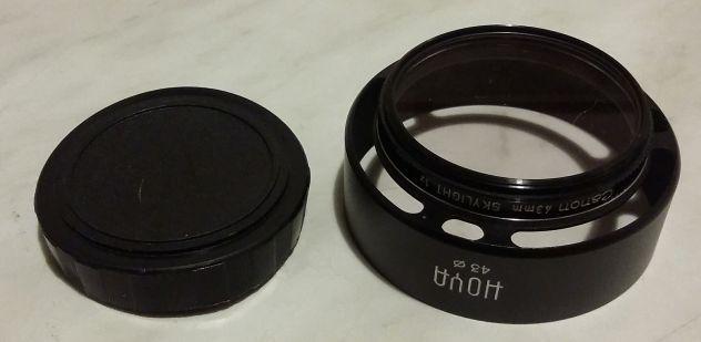 Filtro Canon 43mm.Skylight 1x con parasole Hoya nuovo - Foto 5
