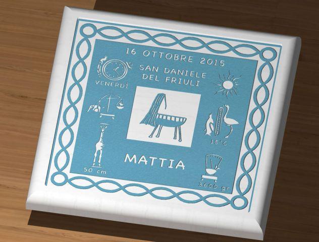 La tavola di nascita del neonato -GRAFFITO PERSONALIZZATO-