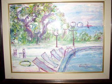 Mario Caragliu - olio su tela - le sdraio