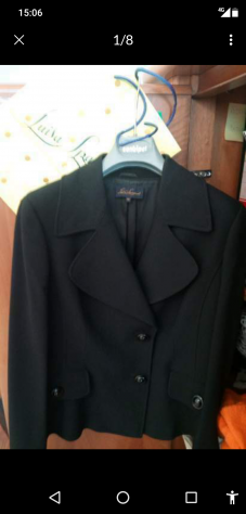 Giacca nera da donna marca Luisa Spagnoli