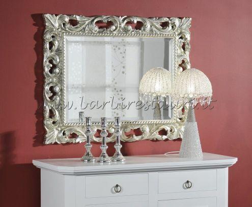 Specchio specchiera barocco intagliata foglia argento o oro ...