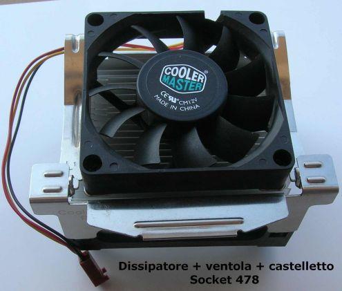 DISSIPATORE VENTOLA CASTELLETTO SOCKET 478 Intel pentium 4
