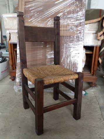 Sedia in legno massiccio misure extra