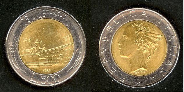 ITALIA 1982-1999 Monete 500 Lire