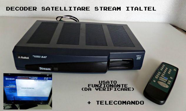 Decoder satellitare italtel s7340 STREAM (da controllare)