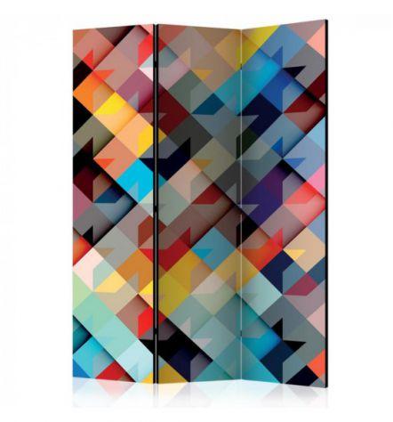 Paravento Multicolore ARREDALACASA N.10 Con 3 Ante
