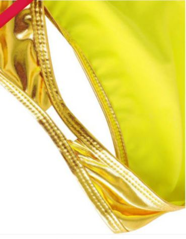 Costume intero gold oro monokini swimsuit donna woman swimwear sexydress shiny - Foto 5