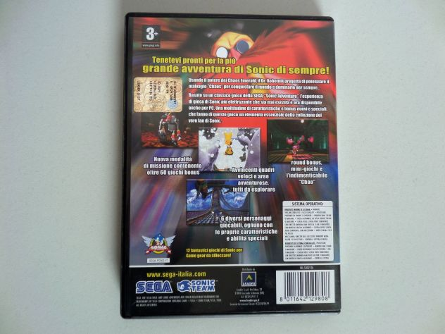 Sonic DX Adventure Director's cut PC (come nuovo) - Foto 3