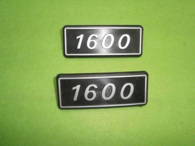 Scritte loghi targhette posteriori Fiat 131 1600  NUOVE
