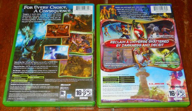 set lotto 4 giochi microsoft xbox sudeki fable hulk fantastic four PAL - Foto 3