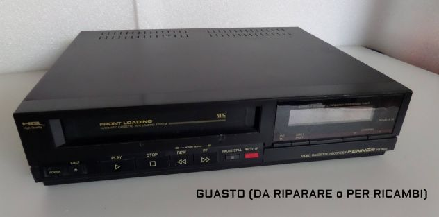 Videoregistratore VHS Fenner VR 3600 (anni 90) GUASTO