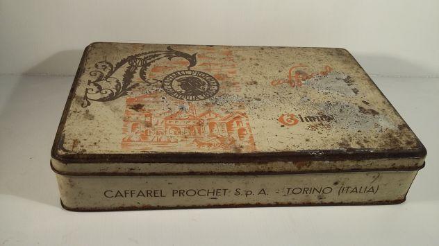 V157 riuso scatola latta Caffarel Gianduia