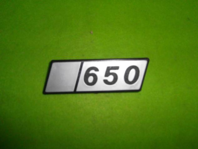 Fiat 126 650 scritta logo targhetta NUOVA