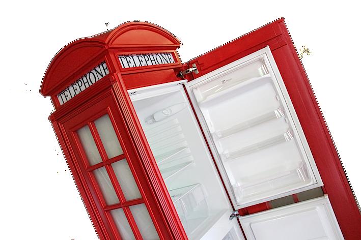 cabina telefonica inglese armadio in legno su misura